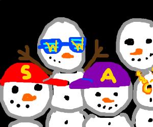 s.w.a.g snowmans
