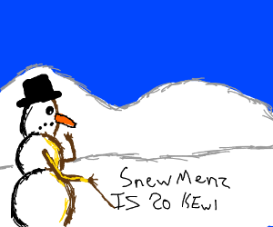 Snowman cant write properly