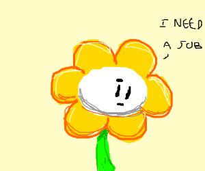 flower man needs a new job