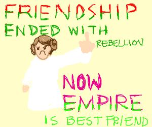 Leia is a rebel rebel