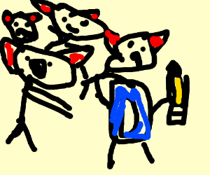 Demons invade Drawception