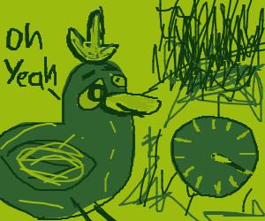 Marijuana land, duck is wet af