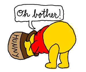 """Pooh saying """"Oh brother!"""""""