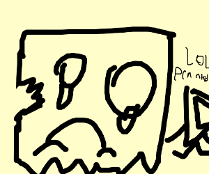 Drawception D pranks default bag avatar.