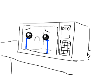 Sad kawaii microwave