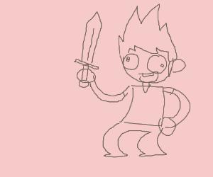 Spiky Hair Guy With Sword