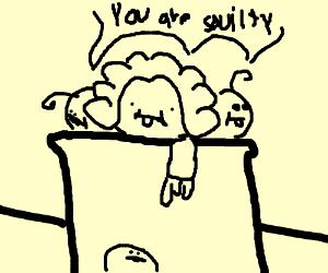 Three babies pretending to be judges