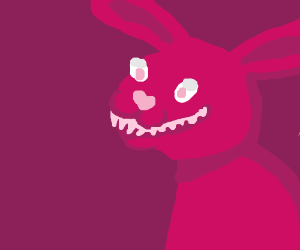 Adorable bunny w/a mouth full of sharp teeth