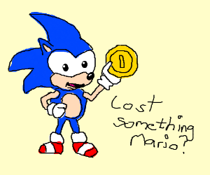 sonic grabs a coin