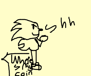 sonic steals mario's coin