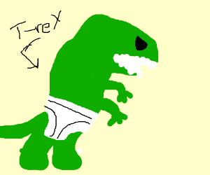 T. rex wearing underpants