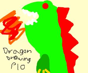 dragon drawing PIO                  oooooooooo