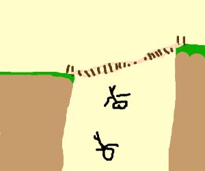 A shaky bridge
