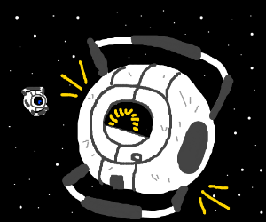 The space core being cute and cheery as usual