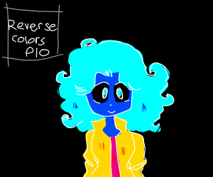Draw a character in reverse colors PIO
