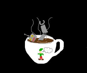 "Bleeding Elf thinks that he is ""Tee'N'Robot"""