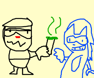 Cuphead and Sonic cook weed