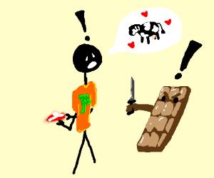 chocolate block attacks fake vegan