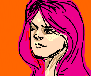 Pink haired girl in love not getting noticed