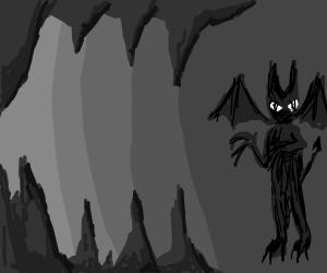 Menacing cave demon