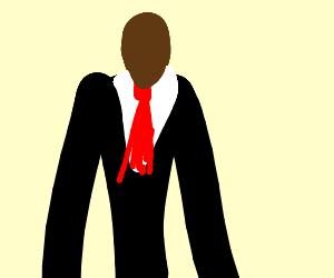 A black slenderman