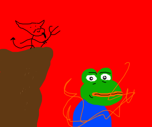 Devil on a Cliff and Pepe in the fire with 911
