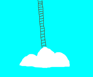 Very high ladder from cloud