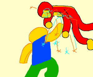 Roblox Noob Vs Justice League And Avengers Drawception