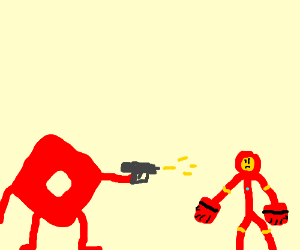 Roblox Kills Iron Man With Fists Drawing By Azuritee Drawception
