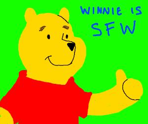 Winnie the Pooh stays SFW