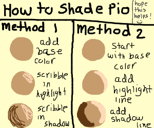 How to shade PIO (Wonderful drawing BTW)