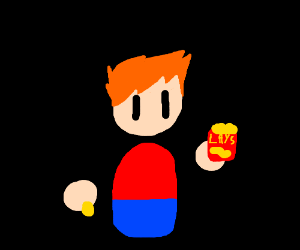 Guy eating Chips
