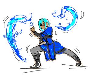Blue Haired Waterbending Girl