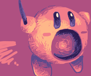Kirby with a Wand
