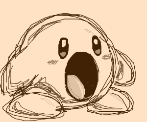 Screaming Kirby (Awesome drawing !!!)