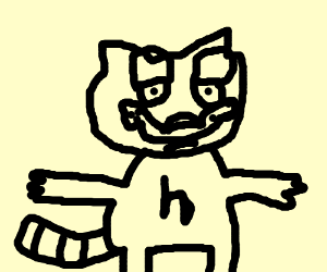 T Posing Garfield Drawception