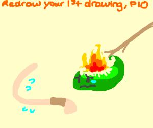 redraw ur first drawing (p.i.o)