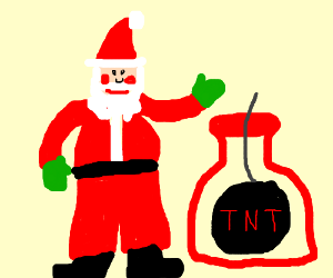 There's a bomb in Santa's Bag