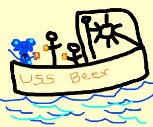 Blue's Clues on a booze cruise PIO