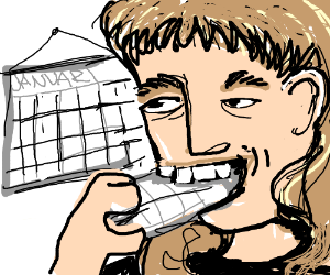 mullet man eats month notes