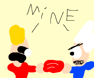 (Eddsworld) Edd and Tord Fighting over bacon