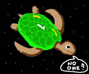 turtle says No one?
