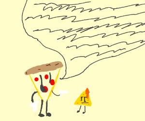 Pizza slice keeps talking to bored nacho