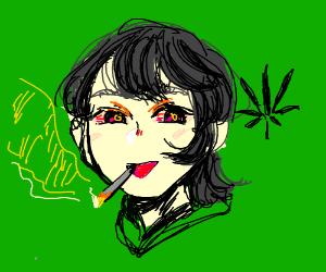 a78f66a68be anime girl smoking some weed drawing by OooOOOoOo - Drawception
