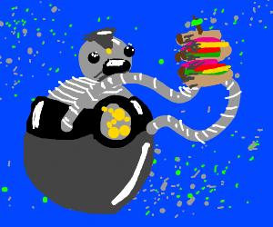 Bigweld from Robots eating a club sandwich