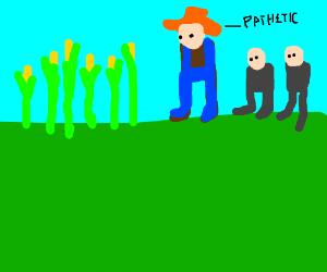 a man teaching that farming is bad