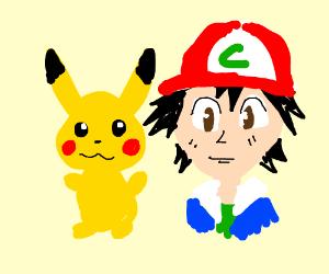 Pikachu and Ash Ketchup