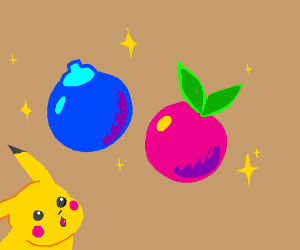 Oran Berry and a Pinkan Berry