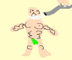 I am the milkman, my milk is delicious. - Drawception