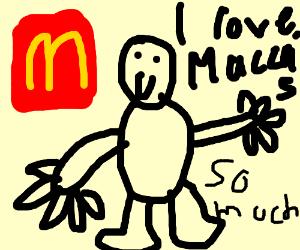 Fat boy LOVES McDonalds